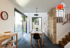 Essex Mews, London — The Modern House Estate Agents: Architect-Designed Property For Sale in London and the UK Kensington And Chelsea, Victorian Terrace, Mid Century House, New Builds, Dining Area, Dining Room, Modern Architecture, Property For Sale, Building A House