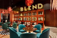 Blend Bar Hotel Lounge, Bar Lounge, Office Lounge, Visual Merchandising, Pullman Hotel, Berlin Hotel, Bauhaus Style, Hospitality Design, Hotels
