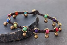 Candy Vivid Woven Bell Anklet