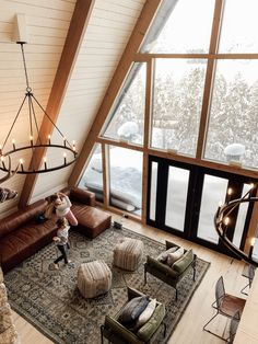A-frame cabin ideas The loss of our A-frame - Chris Loves Julia A Guide to Commercial A Frame Cabin, A Frame House, Casa Hotel, Chris Loves Julia, How To Build A Log Cabin, Cabin In The Woods, Cabin Interiors, Cabin Homes, Rustic Design