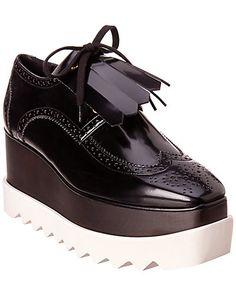 ca66a1a100a Rue La La — Stella McCartney Elyse Fringe Lace-Up Platform Derby Shoe  Stella Mccartney