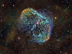 NGC 6888: The Crescent Nebula.