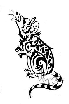 A Rat tribal tattoo by GreenEco94