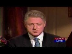 Bill Clinton's confession to an inappropriate relationship with Monica Lewinsky