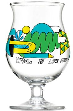 Duvel glass designed by Mike Perry for Ommegang Brewery