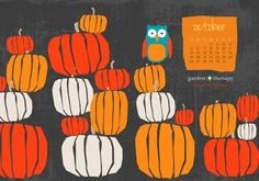 October 2014 Printable Calendar and Desktop Calendar Pinned by www.myowlbarn.com
