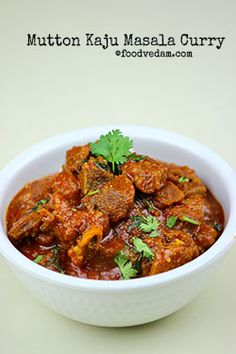 Mutton Kaju Masala is a tasty restaurant style curry with rich gravy.this curry goes well with Biryani rice or normal rice,rotis,phulkas and naans. Chicken Pieces Recipes, Lamb Recipes, Curry Recipes, Meat Recipes, Indian Food Recipes, Cooking Recipes, Snacks Recipes, Mutton Meat, Mutton Gravy