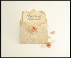 Will You Be My Bridesmaid Mini Envelopes by TheRecycledRuffle