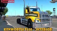 Kenworth + Interior by GTM Team (Updated) Lego Truck, American Truck Simulator, Uv Mapping, Peterbilt, Trucks, Interior, Indoor, Truck, Interiors