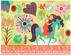 Hey, I found this really awesome Etsy listing at https://www.etsy.com/listing/175588807/horsie-love-by-sarah-walsh
