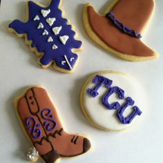 TCU cookies, another tailgating essential! #kendrascott #teamks