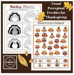 Activity of the Week: Visual Perceptual Printables for Thanksgiving – Freebie!