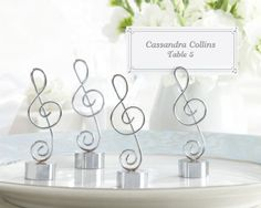 Music Themed wedding- Looking for Music placecard holders :  wedding music place card holders reception Notecards