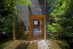 Japanese House. UID Arch.  Green, Wood, Square, Clean.