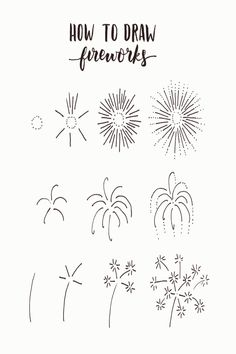36 Simple Doodles You Can Easily Copy in Your Bullet Journal - Simple Life of a Lady Bullet journal designs seem too complicated for you? Worry not. These doodles are very easy to draw. You'll have a nice and chic design in no time! Bullet Journal Inspo, January Bullet Journal, Bullet Journal Notebook, Bullet Journal Aesthetic, Bullet Journal Ideas Pages, Fireworks Quotes, Fireworks Art, Fireworks Wallpaper, Watercolor Fireworks
