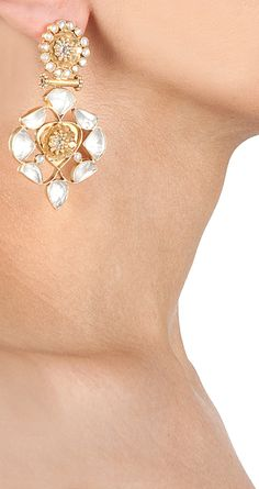 Crystal earrings by AMRAPALI. http://www.perniaspopupshop.com/designers-1/amrapali