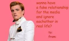 valentines day hunger games cards - Google Search