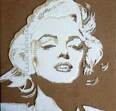ダンボールで作った肖像画 / Cardboard Relief Portraits by Giles Oldershaw Art Pop, Cardboard Relief, Art Minimaliste, L'art Du Portrait, Cardboard Painting, Origami Paper Art, A Level Art, Art N Craft, Art Et Illustration