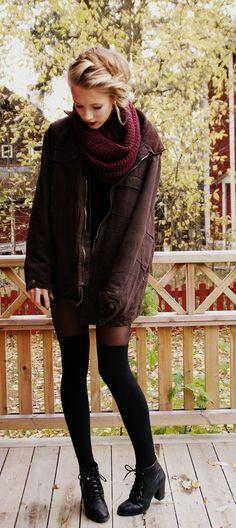 Collants + chaussettes hautes