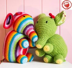 (4) Name: 'Crocheting : Jam Made Elephant Pattern and Tutorial