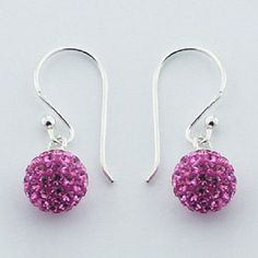 Hallmarked 925 Silver with 8mm Pink Czech Crystal Spheres New Fashion OUR PRICE ONLY $19.95aus FREE WORLD SHIPPING ...BUY NOW FROM LINK HERE.........  http://www.ebay.com.au/itm/-/172272096898?ssPageName=ADME:L:LCA:AU:1123