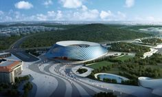 Design for the Rugby Stadium Zencheng, China 2013 (Wolf D. Prix  Coop Himmelb(l)au)