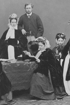 Princess Alexandra of Denmark and Prince Albert Edward the day before their wedding 9th March 1863. Alexandra's sister Princess Dagmar later...