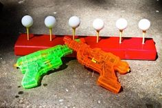 Summer fun – knock ping pong balls off golf tees with water guns. Summer fun – knock ping pong balls off golf tees with water guns. Kids Crafts, Party Crafts, Summer Activities, Outdoor Activities, Mutual Activities, Family Activities, Camping Activities, Physical Activities, Outdoor Fun