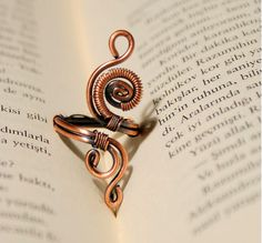 wire ring jewelry-copper ring-adjustable wire wrapped copper ring -wire wrapped jewelry handmade-copper jewelry