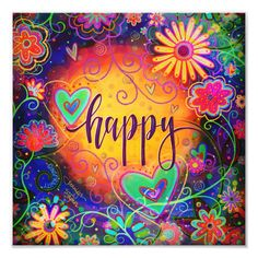 """'Happy' Inspirivity Photo Print Size: 12"""" x 12"""". Gender: unisex. Age Group: adult. Pattern: check. Word Adventure, One Word Art, Art Quotes, Life Quotes, Quotable Quotes, Inspirational Quotes, Soul Quotes, Happy Quotes, Hippie Art"""