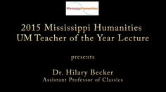 "VIDEO: Watch the lecture, ""The Economy of Color in Ancient Rome: A Case Study of the Pigment Trade,"" delivered by Hilary Becker, assistant professor of ‪#‎classics‬, as University of Mississippi Humanities Teacher of the Year. Presented by the Mississippi Humanities Council and University of Mississippi College of Liberal Arts. Video by Karen Tuttle and the Southern Documentary Project."