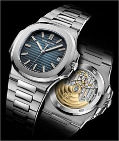 2011 Patek Philippe Nautilus 40 mm (5711/1A). Designed by Gérald Genta in 1976, 4 years after designing the Audemars Piguet Royal Oak, the world's first high end steel sports watch.