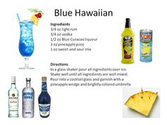 Blue Hawaiian #cocktail from Midnight Mixologist! yummy - I like to lighten this up w/ less sweet & sour