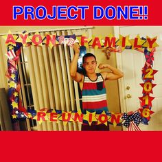 My son Ish, flexing with the selfie frame I made for a friend 😆💪