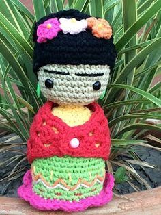 El mundo del crochet.: mayo 2016 Amigurumi Tutorial, Amigurumi Patterns, Amigurumi Doll, Baby Girl Crochet, Love Crochet, Knit Crochet, Knitted Dolls, Crochet Dolls, Vincent Van Gogh