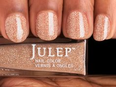 Style your nails with a desert sand microglitter nail polish with Oxygen Technology by Julep. Cynthia is the perfect beige nail polish for your at-home manicure or pedicure. All Things Beauty, Girly Things, Cute Nails, Pretty Nails, Essie, Hair And Nails, My Nails, Just In Case, Just For You