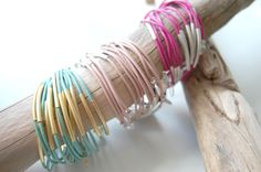 Armreifen in mint, rosa und pink Bangles, Bracelets, Copenhagen, Mint, Jewelry, Bangle, Neck Chain, Armband, Jewlery
