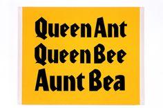 Brooklyn Museum: Elizabeth A. Sackler Center for Feminist Art . Feminist Art, Art Base, Queen Bees, Typography, Brooklyn Food, Writing, Words, Aunt, Feminism