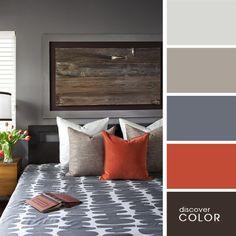 Спальня в серых тонах | DiscoverColor.ru