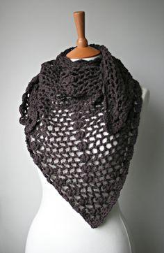 NEW Crochet pattern, scarf / shawl crochet pattern, wrap women pattern by Luz Patterns Poncho Crochet, Crochet Wrap Pattern, Crochet Shawls And Wraps, Love Crochet, Crochet Scarves, Crochet Clothes, Crochet Hats, Knitting Patterns, Crochet Patterns