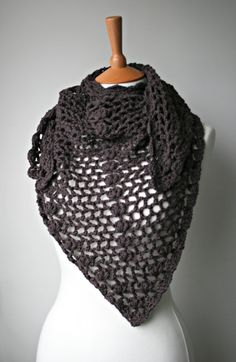 Crochet pattern scarf / shawl crochet pattern wrap by LuzPatterns