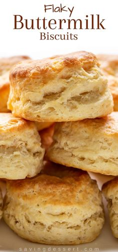Homemade Buttermilk Biscuits Recipe - hard to resist and incredibly easy to make these biscuits are buttery flaky and soft and better than grandma's! Homemade Buttermilk Biscuits, Flaky Biscuits, Buttermilk Bisquits, Biscuit Bread, Breakfast Biscuits, Brunch Recipes, Breakfast Recipes, Bread Recipes, How To Make Biscuits