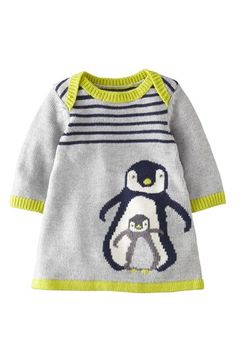 Mini Boden 'My Baby' Intarsia Sweater Dress (Baby Girls) available at #Nordstrom