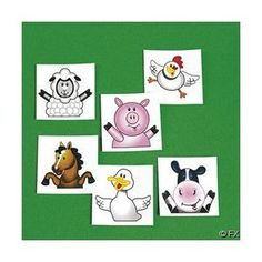 72 FARM ANIMAL/BARNYARD TATTOOS/Cow/DUCK/PIG/SHEEP/HORSE/CHICK/Birthday PARTY FAVORS/6 DOZEN >>> Learn more by visiting the image link.