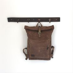 Handmade waxed canvas backpack by @MunieDesigns #shopsqsp