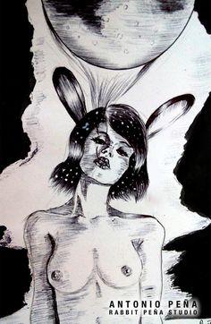 """""""Prólogo"""" Ilustracion por Antonio Peña / Rabbit Peña Studio Illustration  #illustration #design #art"""