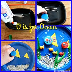 O is for Ocean Preschool Paper Plate Craft #kids