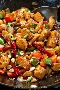 Kung Pao Chicken Kung pao chicken recipe with bell peppers, onions, lean white meat, and a spicy sauce that rivals authentic Chinese takeout! The post Kung Pao Chicken & Comida appeared first on Food . Cooking Recipes, Healthy Recipes, Spicy Food Recipes, Healthy Chinese Recipes, Chinese Meals, Chinese Dinner, Lean Meat Recipes, Cooking Tips, Think Food