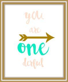 you are onederfulOnederful party decordigital by BennyTillStitch