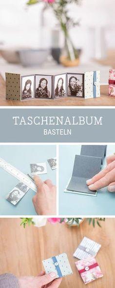 Kleines Fotoalbum selbermachen, DIY für ein Leporello, Geschenkidee für die beste Freundin / best friend giftidea: how to craft a mini photo album via DaWanda.com